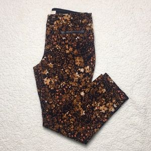 Anthropologie The Essential Slim Patterned Pant
